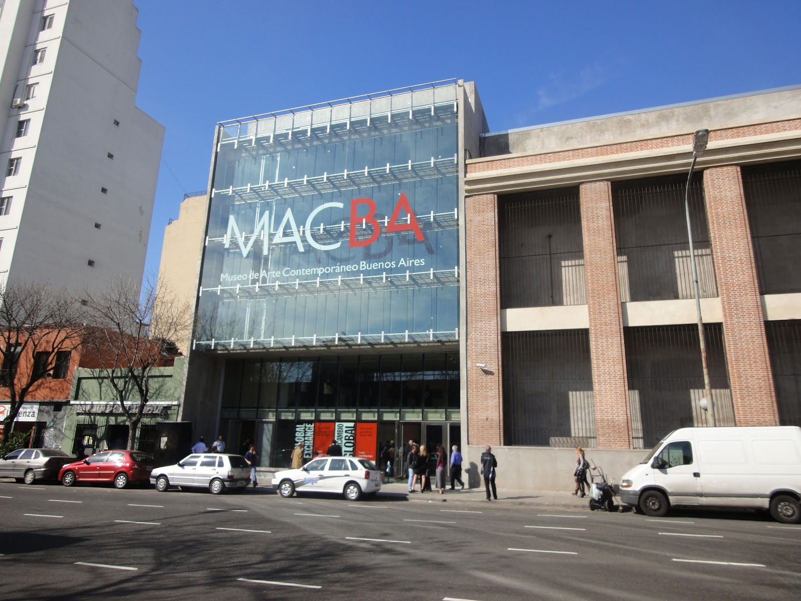 Image from San Juan Street of the new MACBA Building