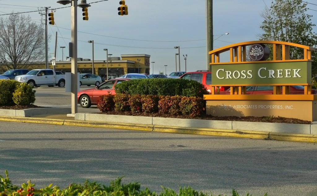 The Entrance to Cross Creek Mall
