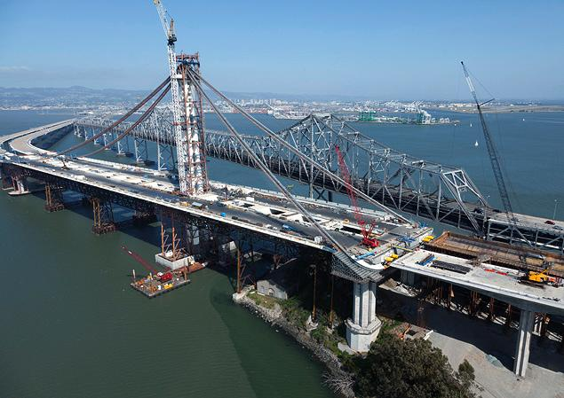 Bay Bridge East Span - Old & New