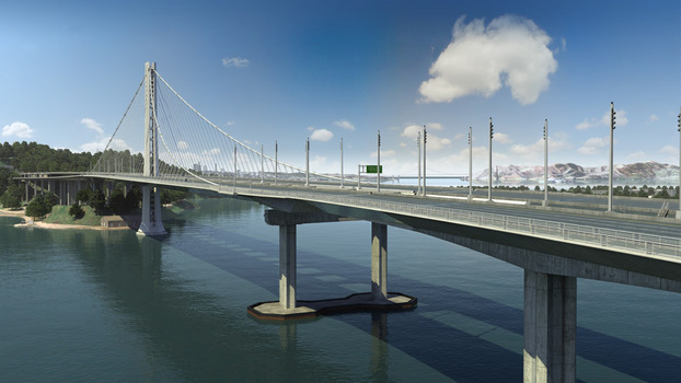 East Bay Span - Artist's Rendering
