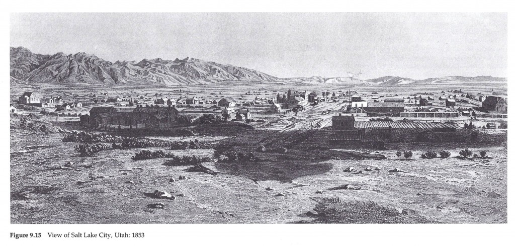 View of Salt Lake City, Utah in 1853
