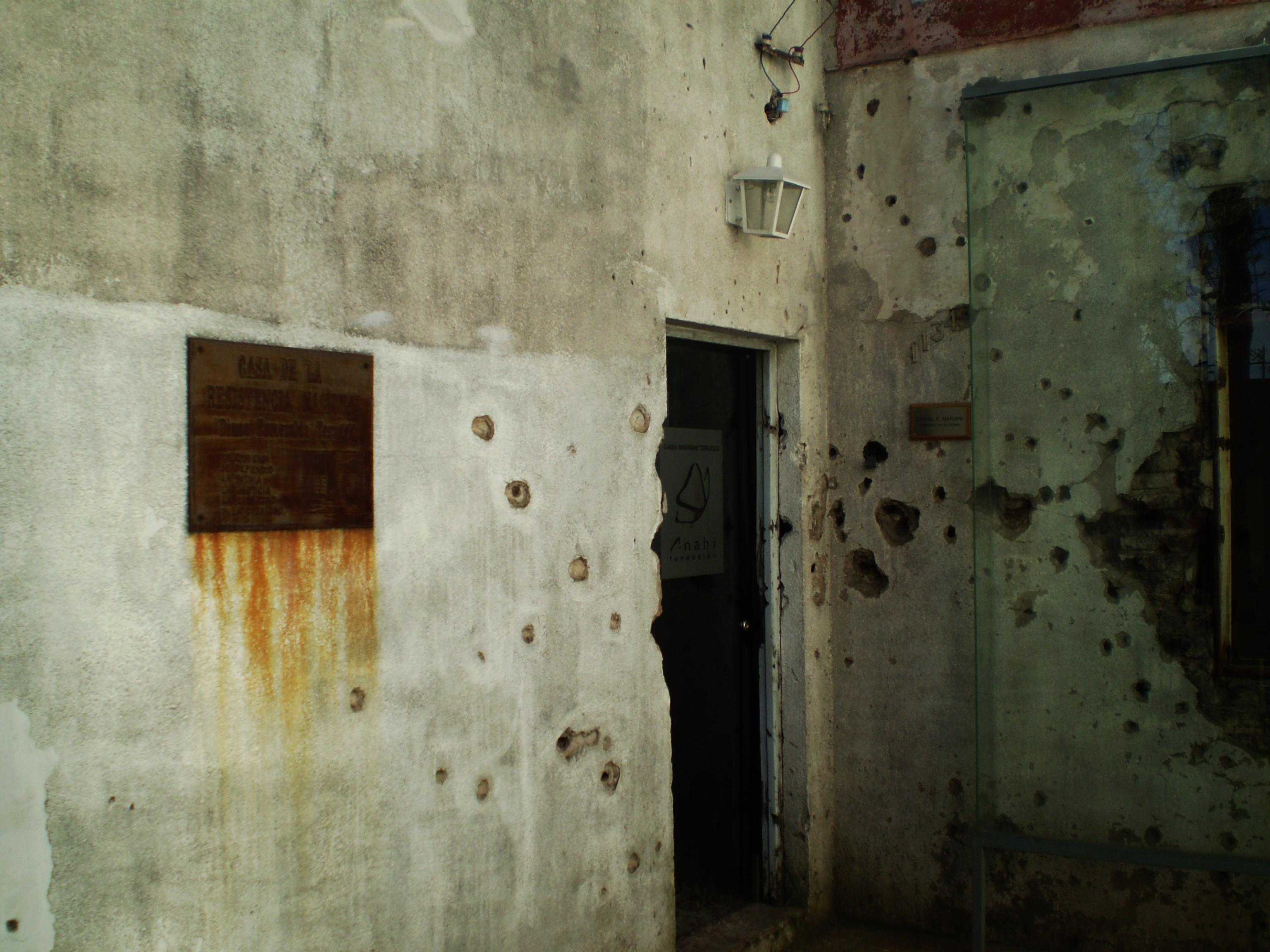 Evidence of armed violence-Mariani Teruggi House