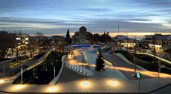 New Square in Thermi, Thessaloniki, Greece