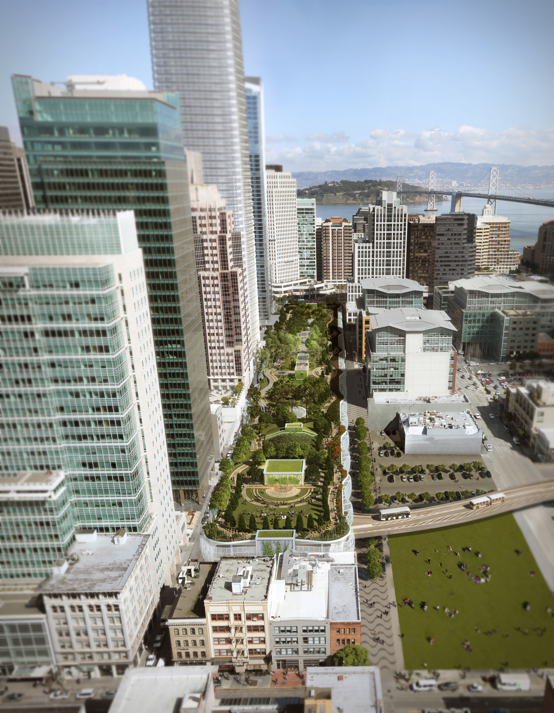 Transbay Transit Center Bird's Eye View