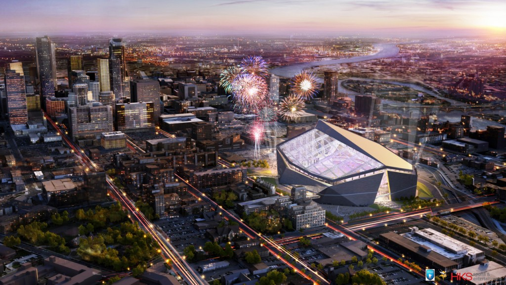 Proposed Design of New Vikings Stadium