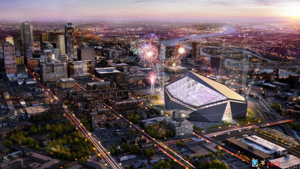 Proposed Design of New Vikings Stadium