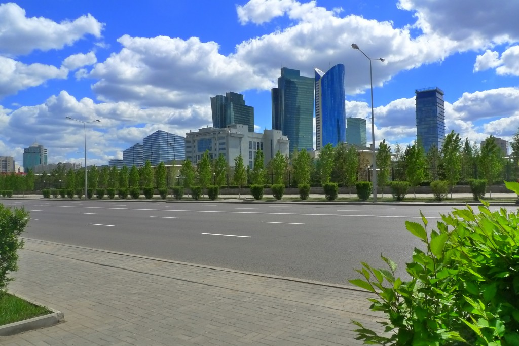 A Streetscape in Astana