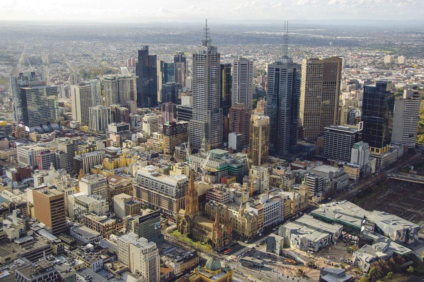 A snap of Melbourne's ever densifying CBD.