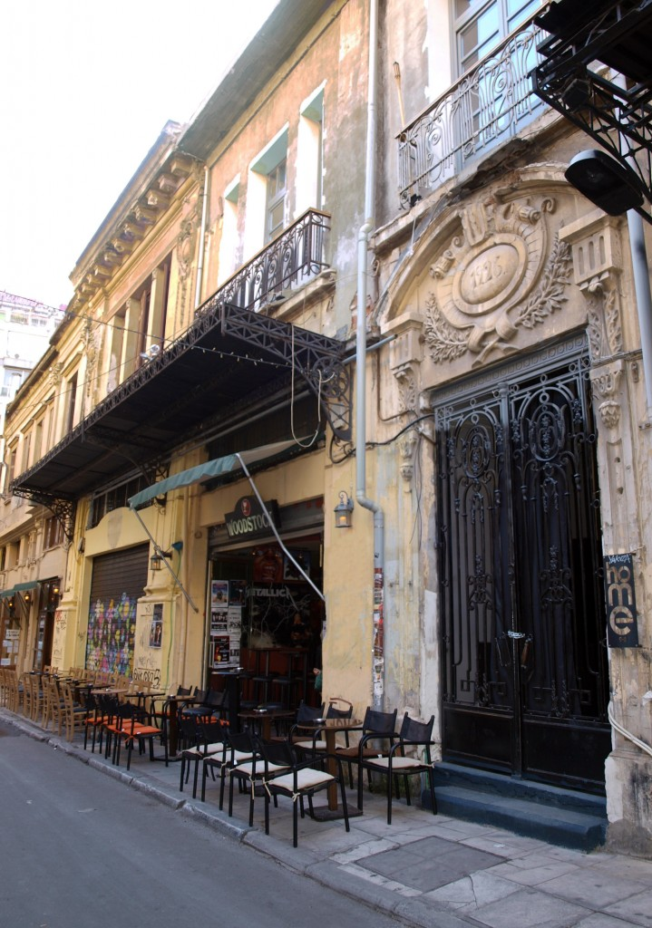Bars in Valaoritou Street, Thessaloniki, Greece