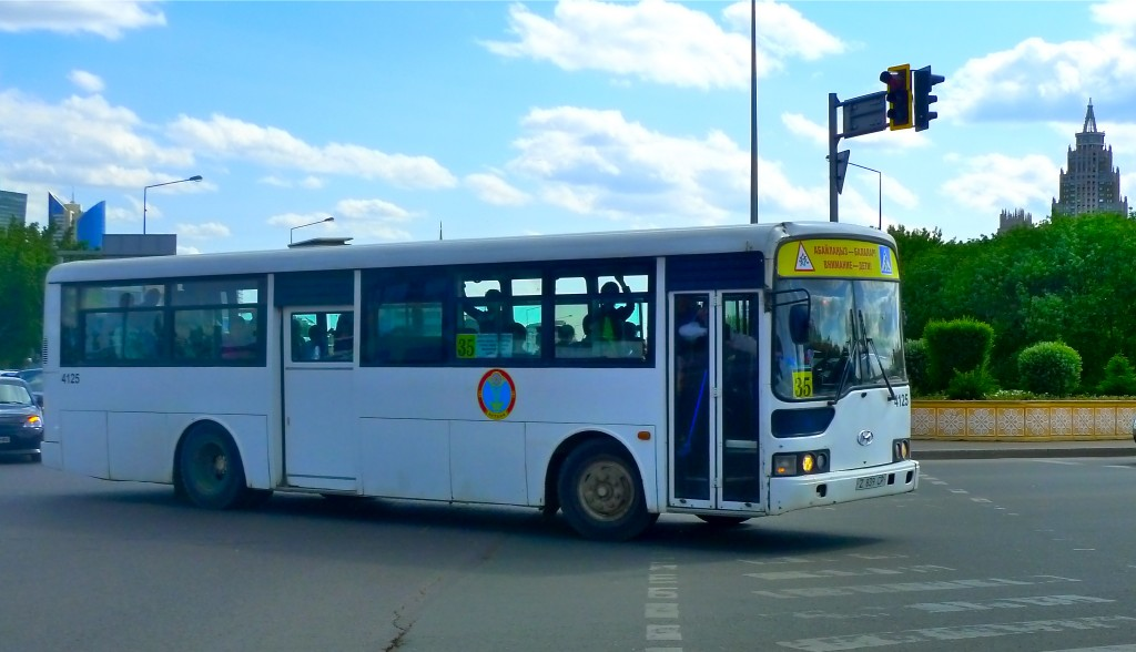 Under Astana's current system, its buses do not have devoted lanes.