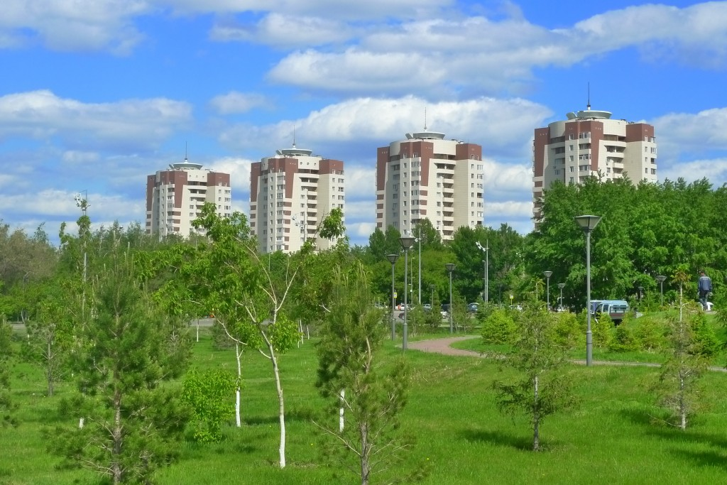 Most of Astana's residents dwell in high-rises.