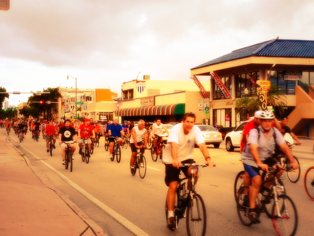 Miami Critical Mass on Calle Ocho