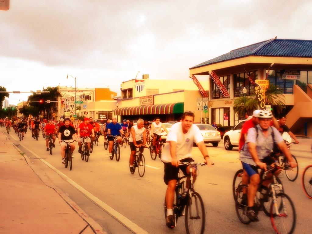 Miami Critical Mass on Calle Ocho