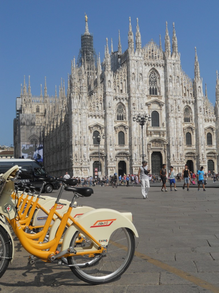 BikeMi Sharing Station at Piazza Duomo, Milan