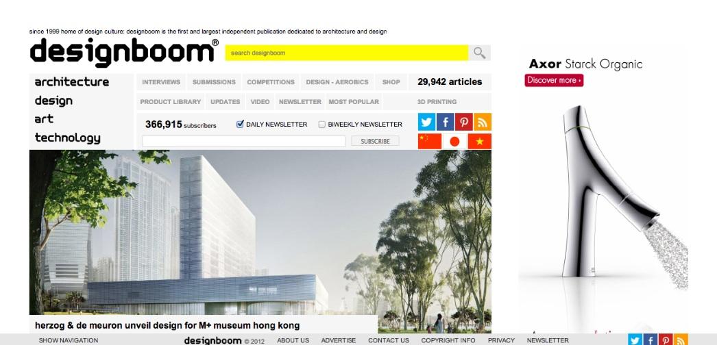 Design Boom Screen Shot The Global Grid