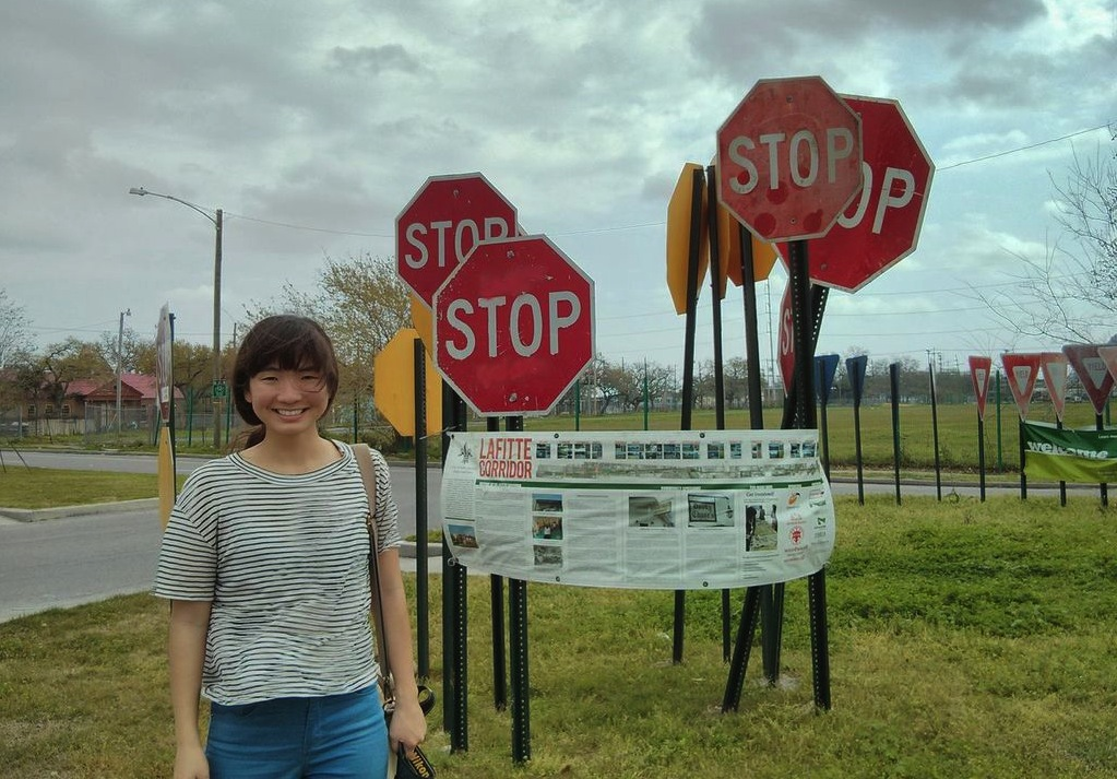Jessica Yoon at the future Lafitte Greenway