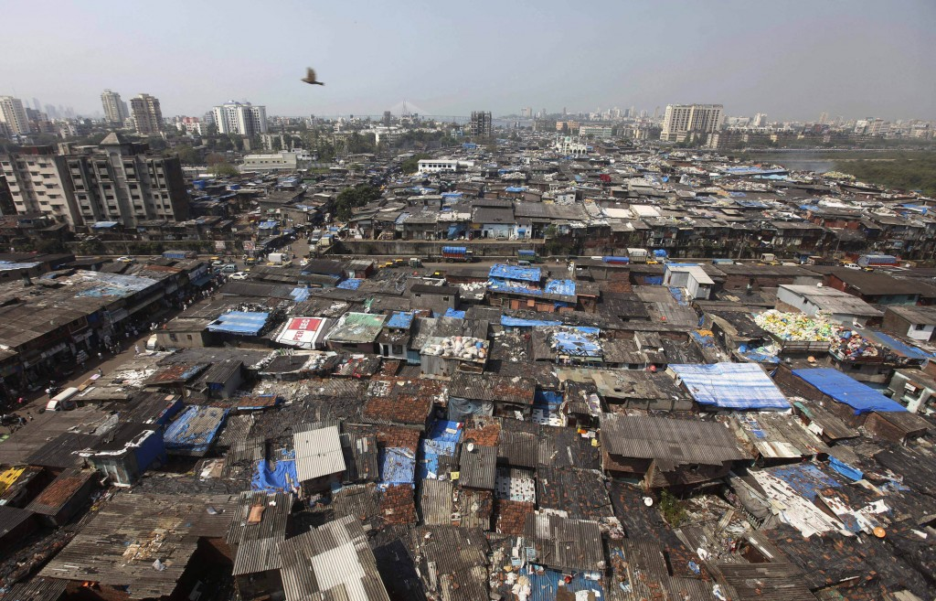 Dharavi Slum in Mumbai, India