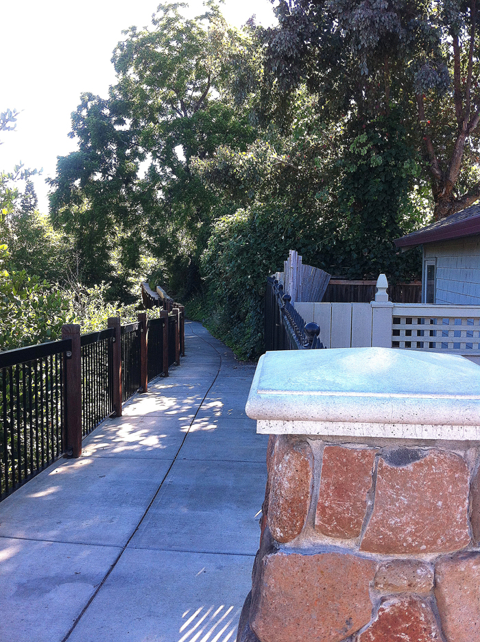 Multi-use pathway linking downtown Santa Rosa to residential neighborhoods and regional trails
