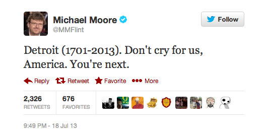 Michael Moore on Detroit bankruptcy