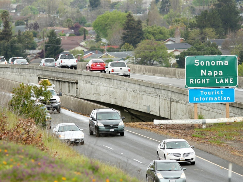 Petaluma Boulevard South Interchange Bridge in Petaluma, California