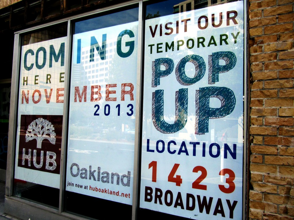 HUB Oakland offers a PopUp Co-working Space of Popuphood