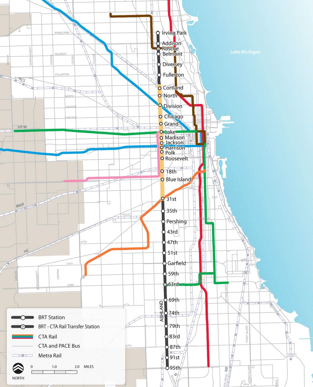 BRT Map, Chicago