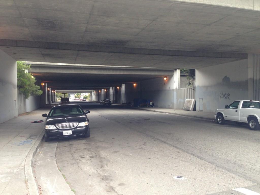 Dark underpass