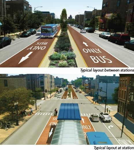 BRT Rendering, Chicago