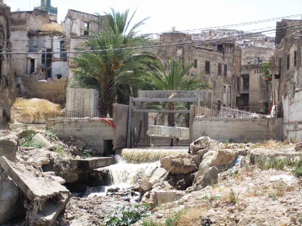 Polluted river, Oued Fez
