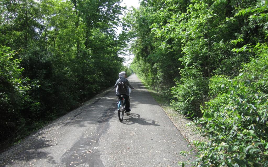 Bike path in Muncie, Indiana