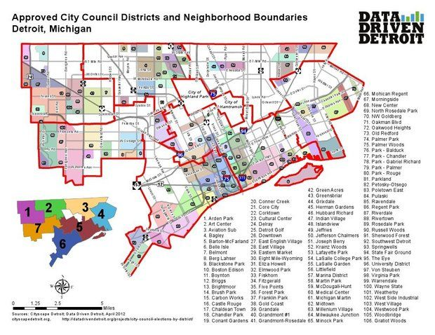 Detroit City Council Districts 2013