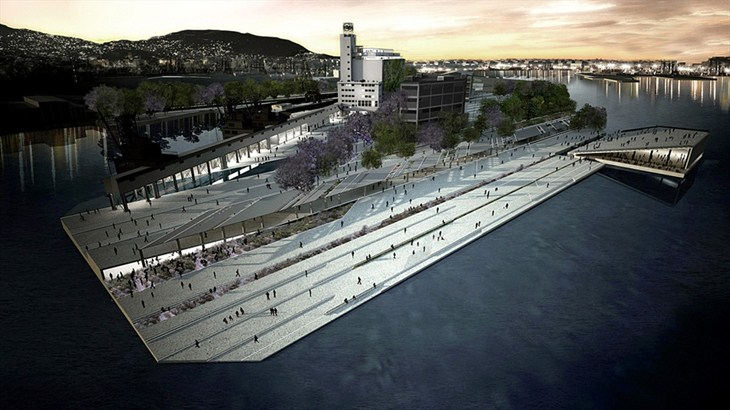 Rendering of a proposal for the  Future Piraeus Cultural Coast