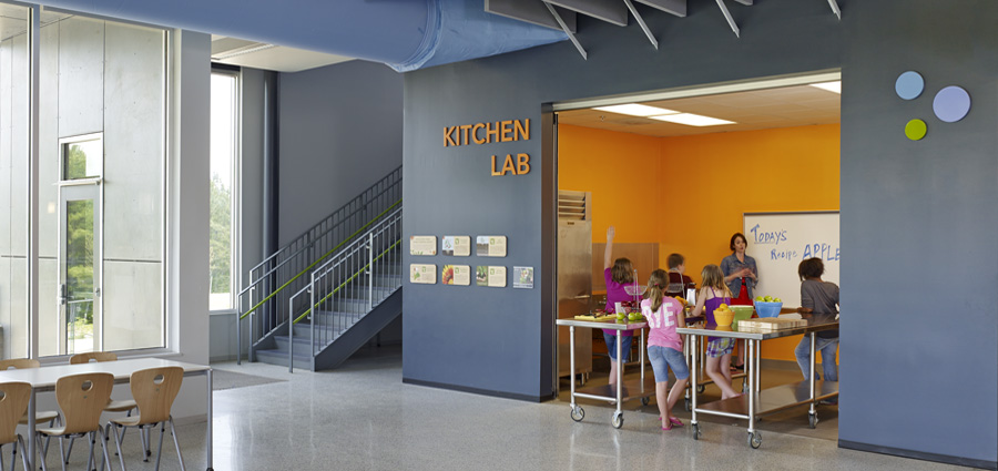 Buckingham Elementary School Kitchen Lab, Virginia