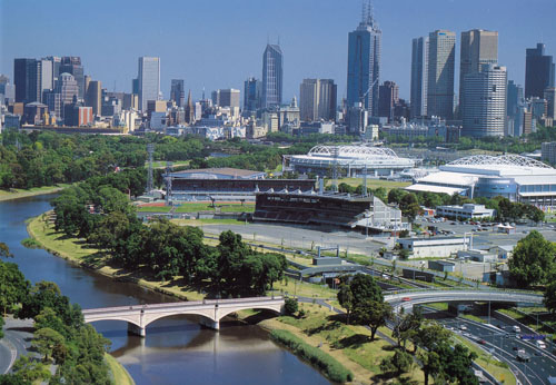 The Yarra River and CBD's skyline