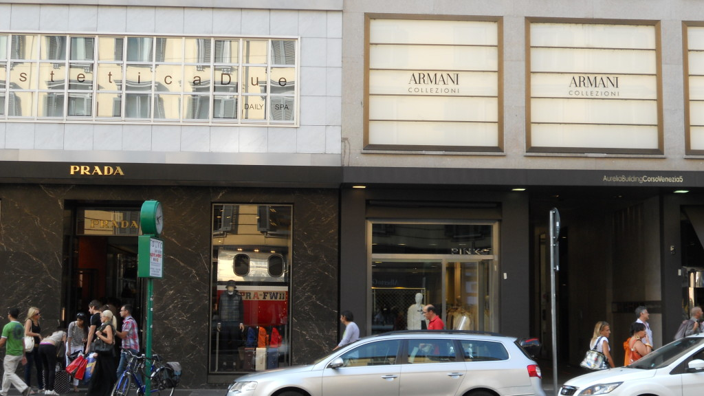 Stores in Quadrilatero della Moda, Milan,Italy