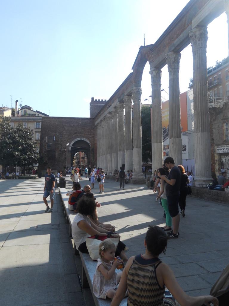Colonne di San Lorenzo by day, Milan, Italy