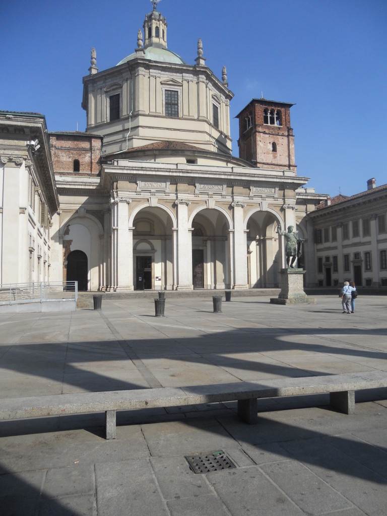 Piazza San Lorenzo by day, Milan, Italy