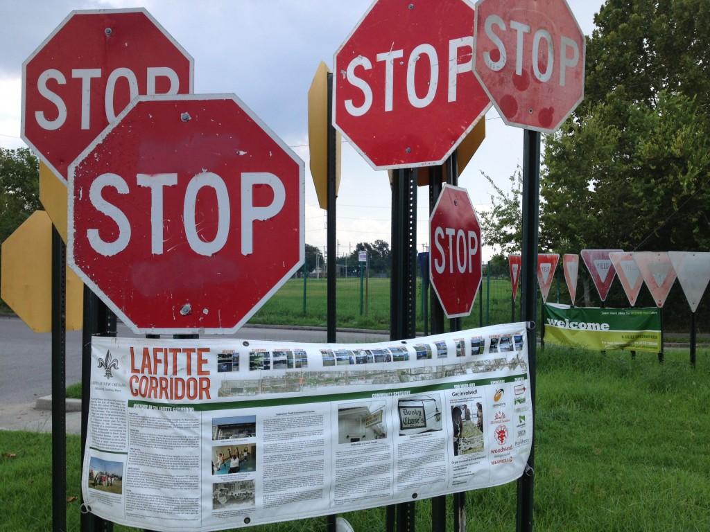 Information signs, Lafitte St.
