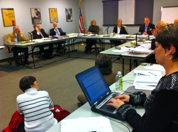 The Winnetka Plan Commission debating housing ordinances