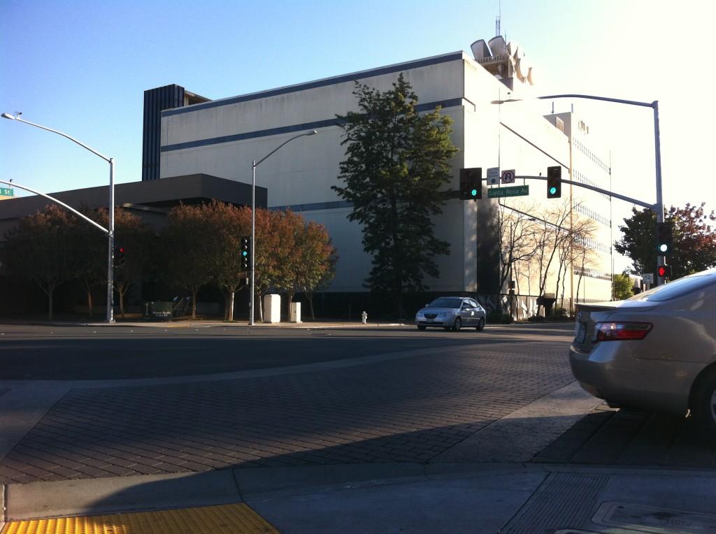 Northern facade of the AT&T switching facility, Santa Rosa, CA