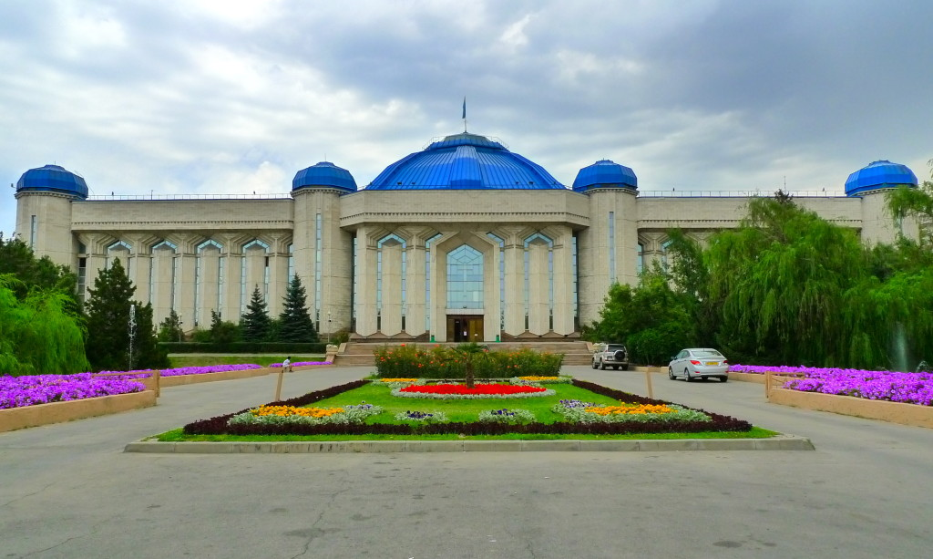Astana, Kazakhstan, The National Museum of Kazakhstan, an example of Socialist Realist-Neoclassical Architecture in Almaty, the Former Capital of Kazakhstan
