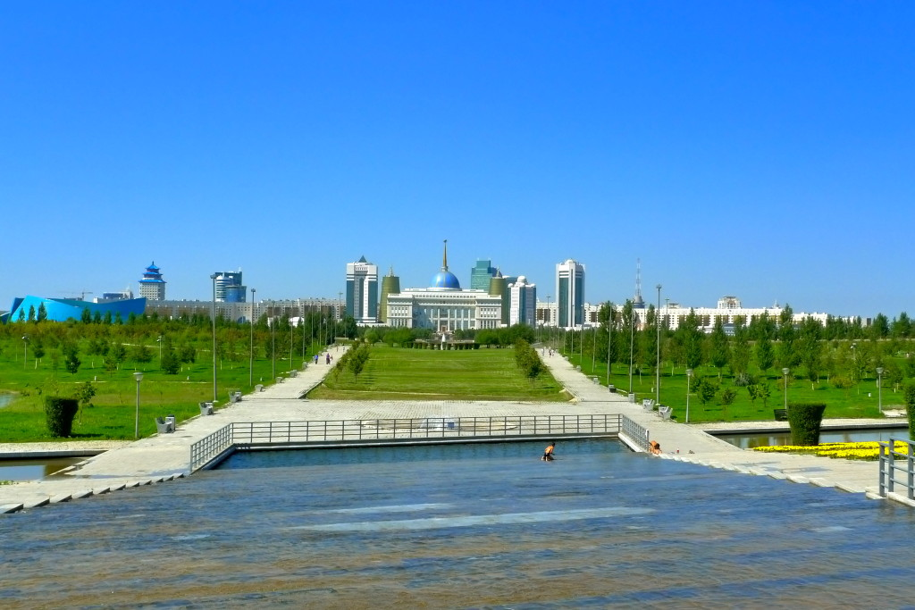A View of the Presidential Palace from the Pyramid for Peace and Reconciliation Astana, Kazakhstan