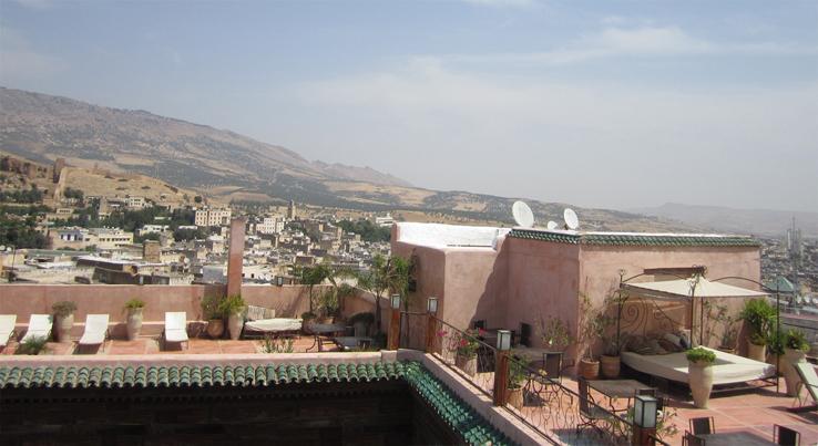 Riad Laaroussa Rooftop Fez Medina Morocco