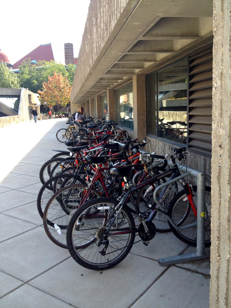 Congested Bicycle Rack at University of Minnesota