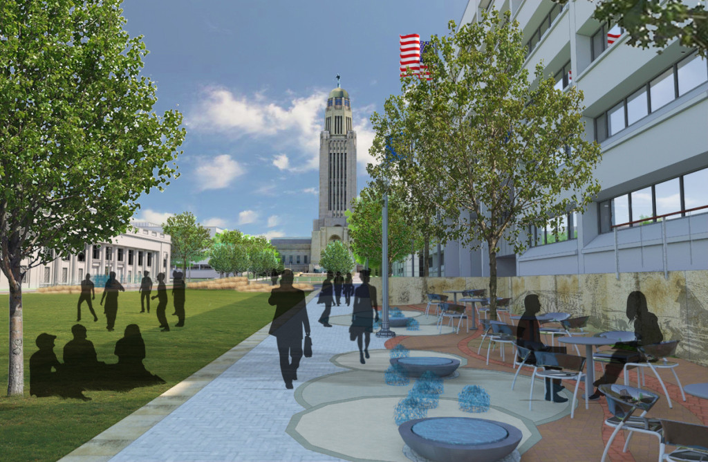 Centennial Mall Renovation Rendering Lincoln, Nebraska