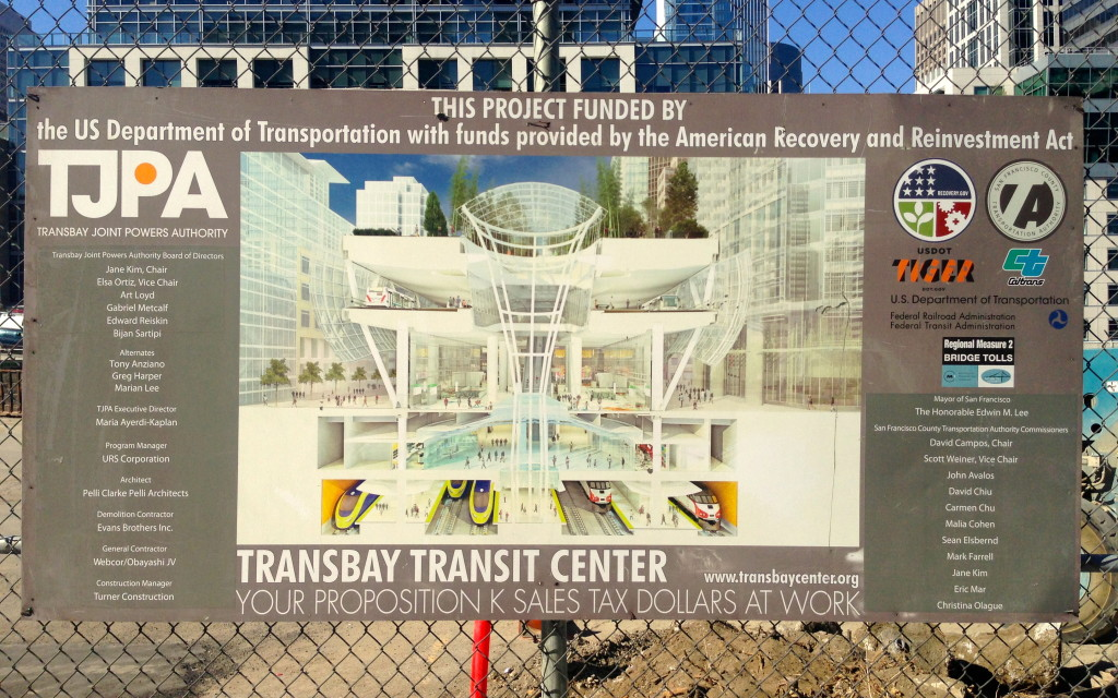 Project Board Transbay Transit Center San Francisco Bay Area California
