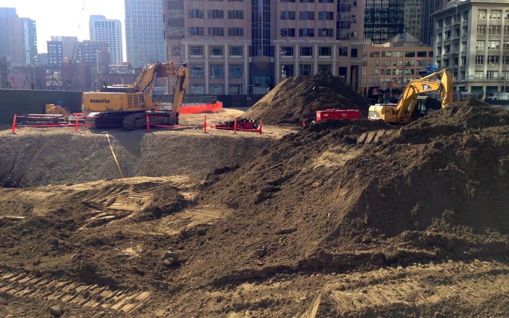 Construction Site San Francisco Transbay Transit Center California