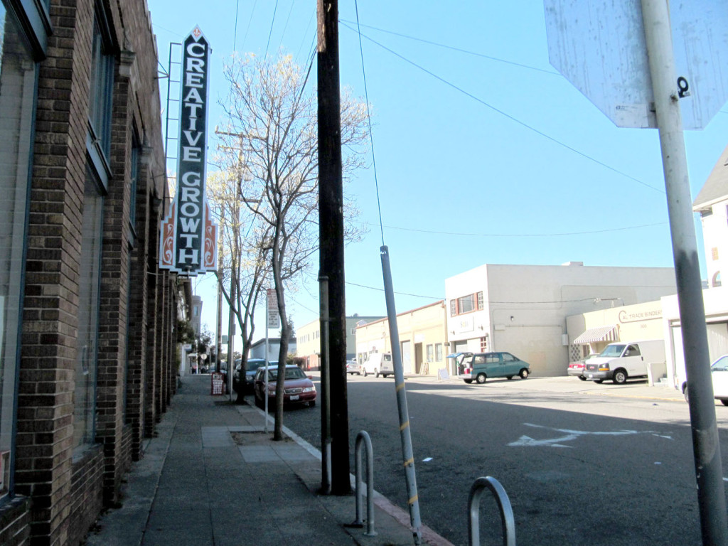 One of the planned primary shopping areas on 24th from Broadway Ave. to Valdez St. in Oakland, Ca.