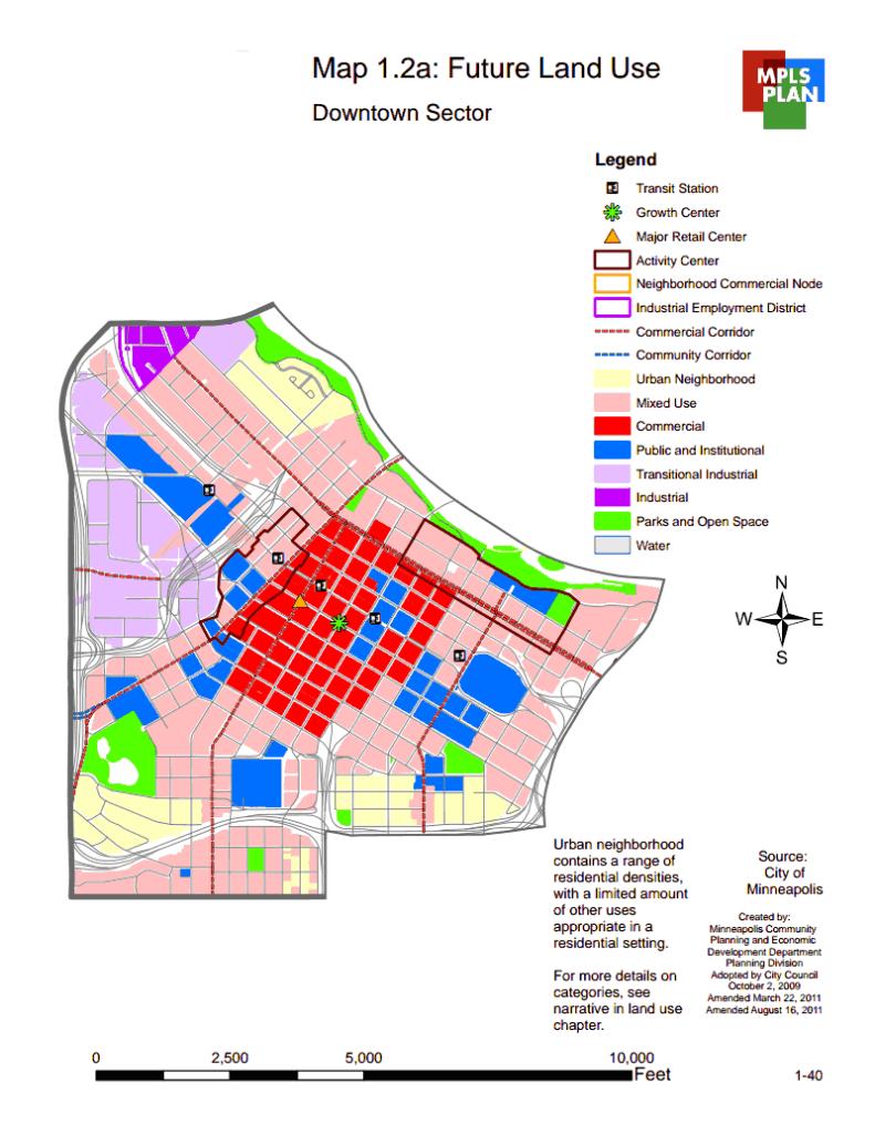Future Downtown Minneapolis Land Use, Minneapolis, Minnesota