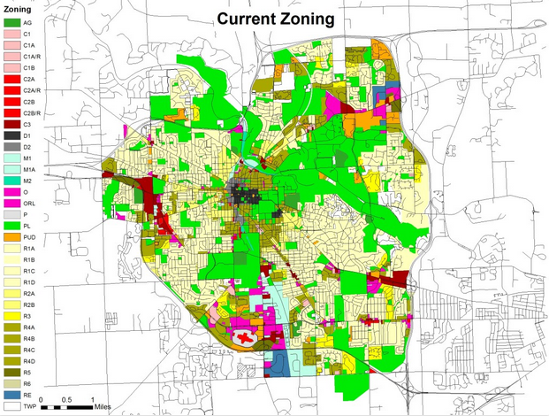 Current Ann Arbor, Michigan Zoning Map